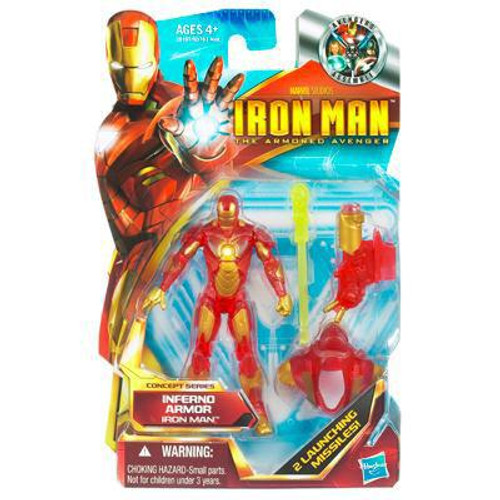 The Armored Avenger Concept Series Inferno Armor Iron Man Action Figure #3