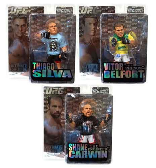 UFC Ultimate Collector Series 5 Set of 3 Action Figures [Limited Edition]