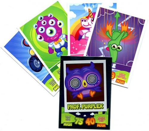 Moshi Monsters Trading Card Game Lot of 5 Single Cards [Random, Includes 1 Foil]