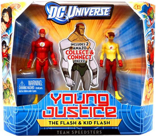 DC Universe Young Justice Flash & Kid Flash Action Figures [Team Speedsters]