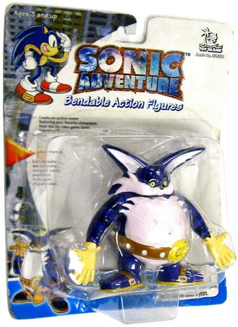 Sonic The Hedgehog Sonic Adventure Big the Cat 3-Inch Bendable Figure