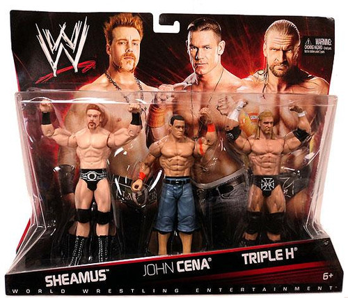 WWE Wrestling Sheamus, John Cena & Triple H Exclusive Action Figure 3-Pack