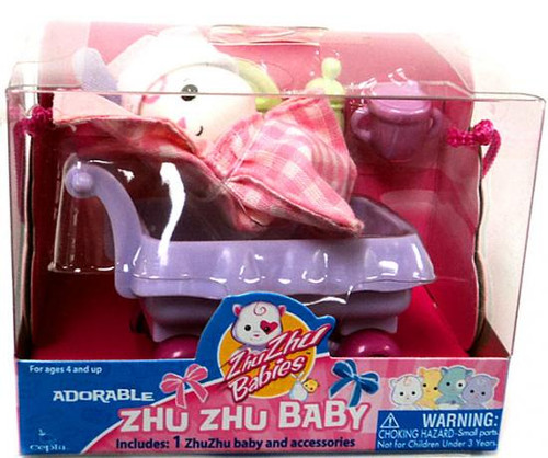 Zhu Zhu Pets Babies Tiddlypop Zhu Zhu Baby [White]