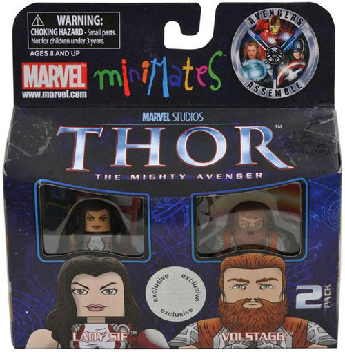 Thor The Mighty Avenger Minimates Series 39 Lady Sif & Volstagg Exclusive Minifigure 2-Pack