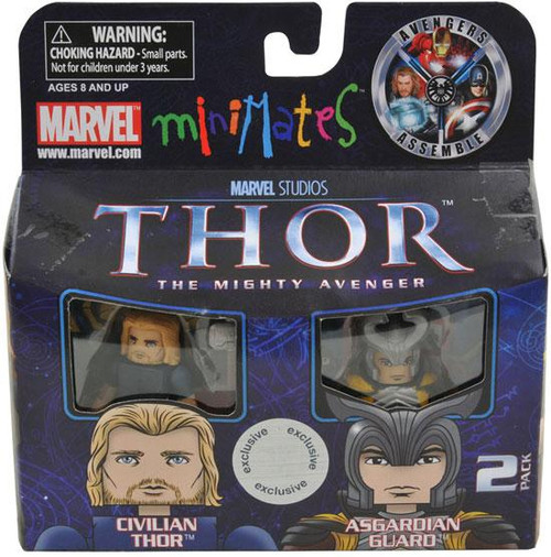The Mighty Avenger Minimates Series 39 Civilian Thor & Asgardian Guard Exclusive Minifigure 2-Pack