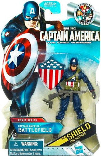 The First Avenger Comic Series Battlefield Captain America Action Figure #3