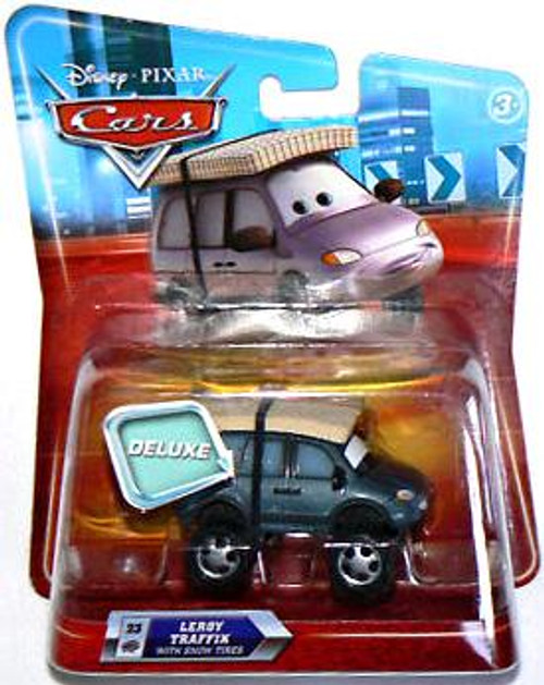 Disney Cars Deluxe Oversized Leroy Traffik Diecast Car [Snow Tires]