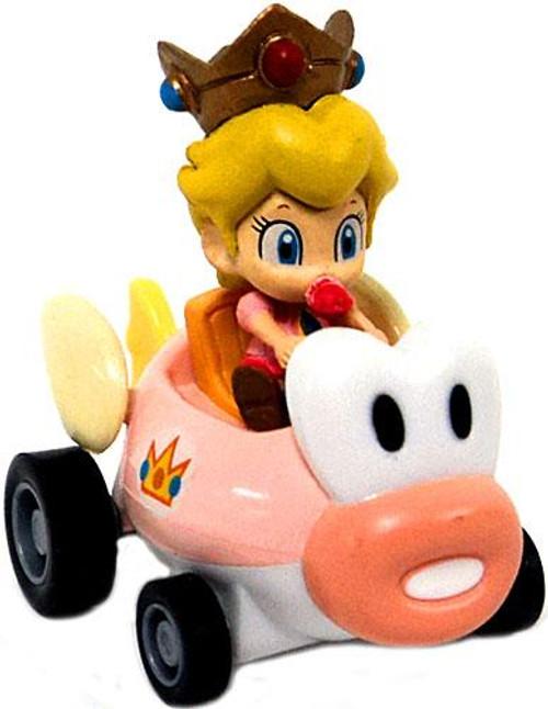 Super Mario Mario Kart Gacha Baby Peach 1 1/2-Inch Pull Back Racer