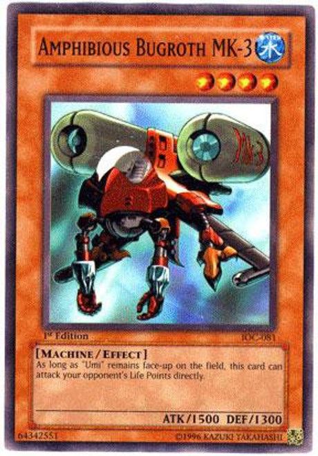 YuGiOh Invasion of Chaos Common Amphibious Bugroth Mk-3 IOC-081