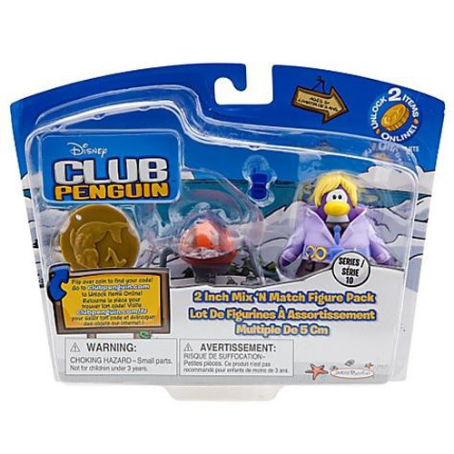 Club Penguin Mix 'N Match Series 10 Dot with Spy Phone & Headgear Mini Figure Set