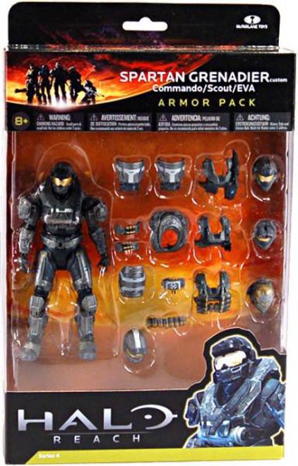 McFarlane Toys Halo Reach Armor Packs Spartan Grenadier Custom Armor Pack [Steel]