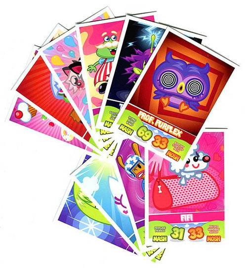 Moshi Monsters Trading Card Game Lot of 10 Single Cards [Random]