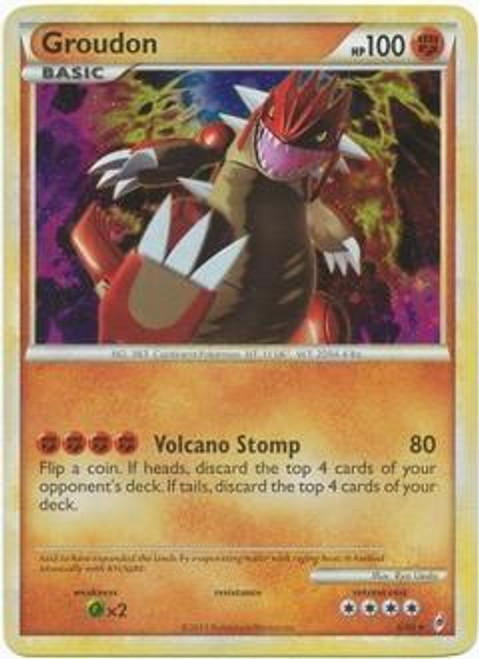 Pokemon Call of Legends Rare Holo Groudon #6