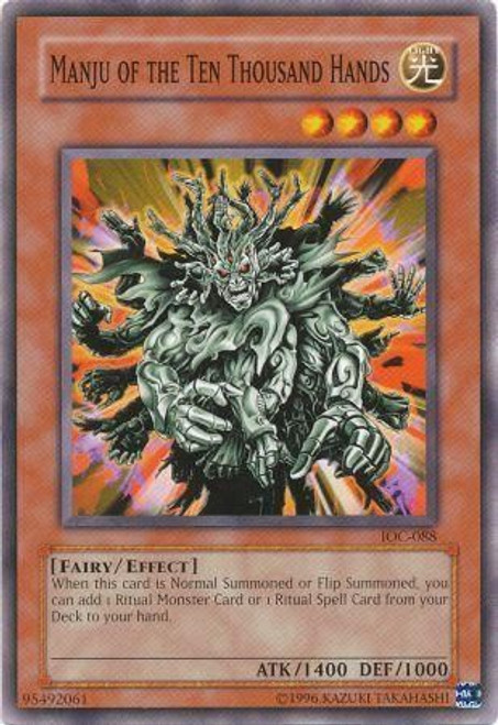YuGiOh Invasion of Chaos Common Manju of the Ten Thousand Hands IOC-088