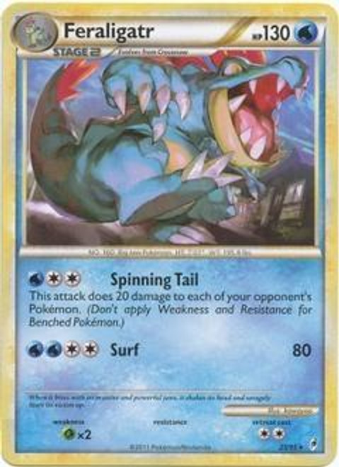 Pokemon Call of Legends Rare Feraligatr #25