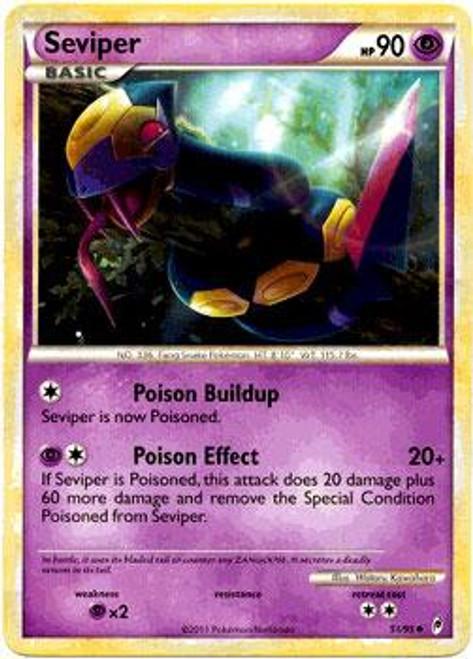 Pokemon Call of Legends Uncommon Seviper #51