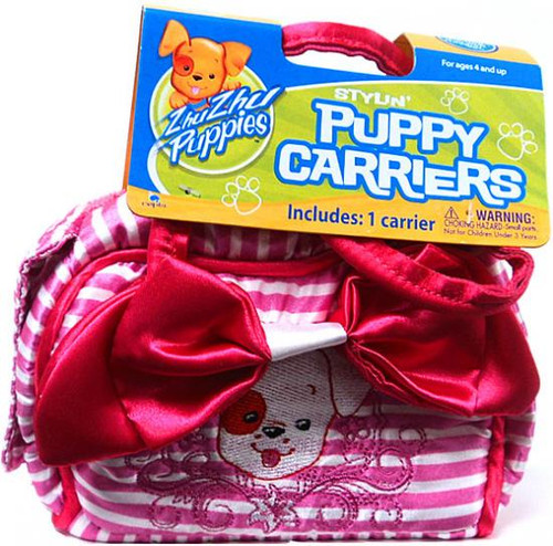 Zhu Zhu Pets Zhu Zhu Puppies Puppy Carriers Stylin' Puppy Carrier Accessory [Pink Stripes]
