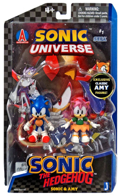 Sonic The Hedgehog Comic Series Sonic & Amy Action Figure 2-Pack