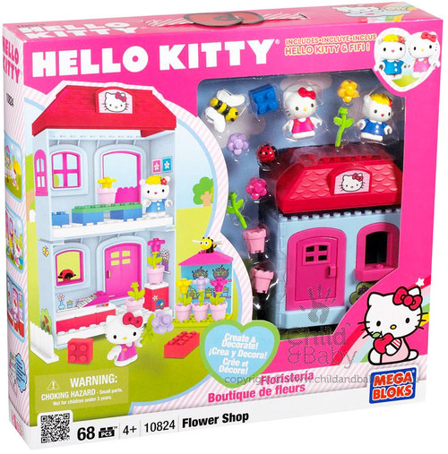 Mega Bloks Hello Kitty Create & Decorate Flower Shop Set #10824