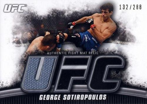 UFC 2010 Knockout Gold Mat Relic George Sotiropoulos FM-GS