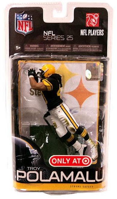 McFarlane Toys NFL Pittsburgh Steelers Sports Picks Series 25 Troy Polamalu Exclusive Action Figure [Retro Uniform]
