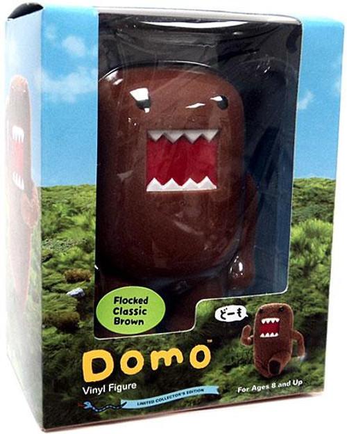 Flocked Domo 4-Inch Vinyl Figure [Classic Brown]
