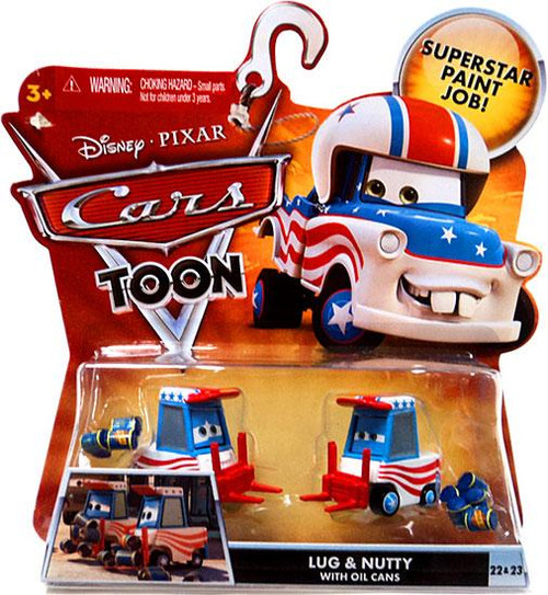 Disney Cars Cars Toon Main Series Lug & Nutty with Oil Cans Diecast Car #22 & 23