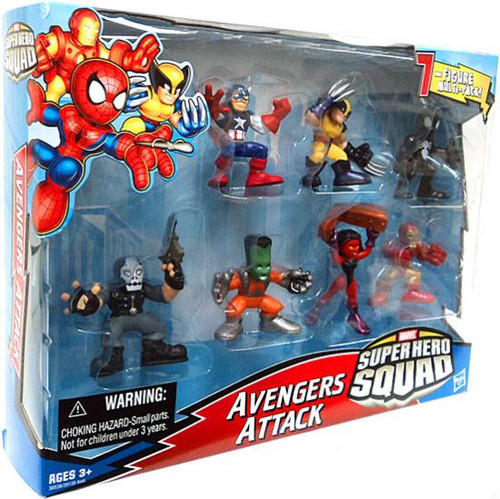 Marvel Super Hero Squad Avengers Attack Action Figure Set