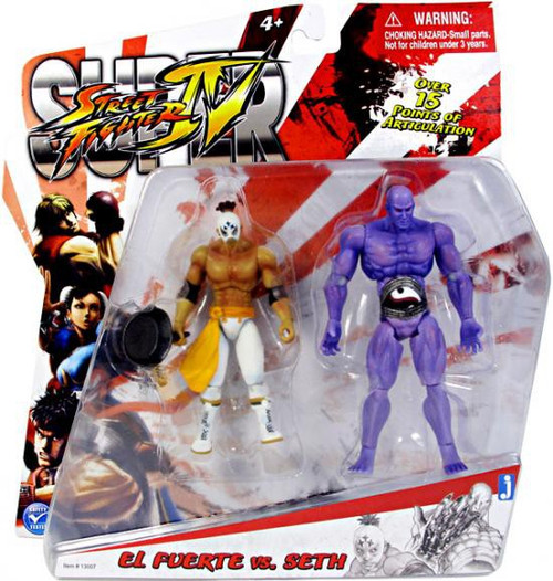 Street Fighter IV Modern El Fuerte Vs. Seth Action Figure 2-Pack