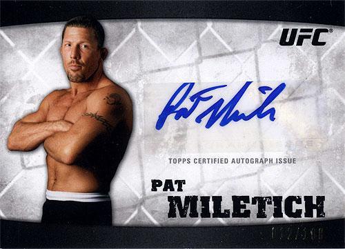UFC 2010 Knockout Autograph Pat Miletich A-PM
