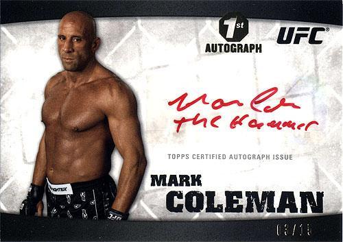 UFC 2010 Knockout Autograph Mark Coleman A-MCO