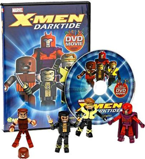 Marvel Minimates X-Men Darktide DVD [With Figures]