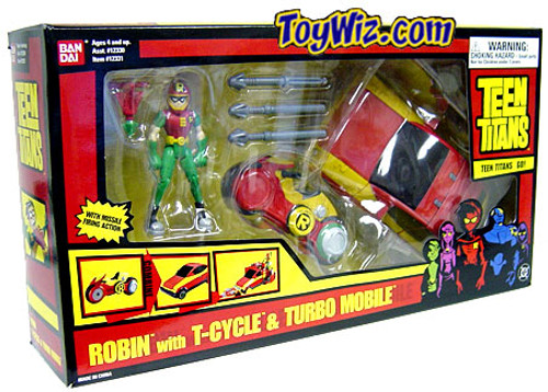 Teen Titans Go! Robin with T-Cycle and Turbo Mobile Vehicle Set