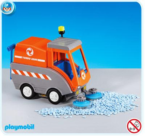 Playmobil Construction Road Sweeper Set #7513