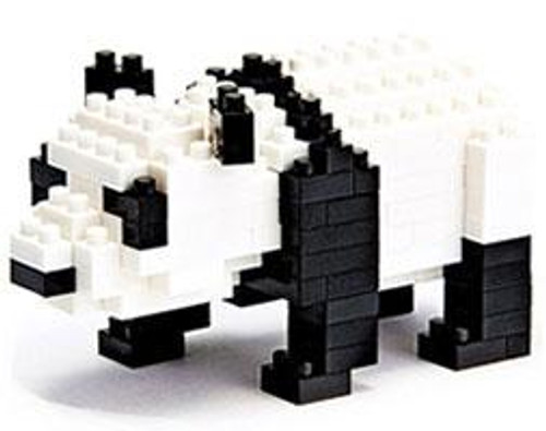 Nanoblock Micro-Sized Building Block Giant Panda Figure Set