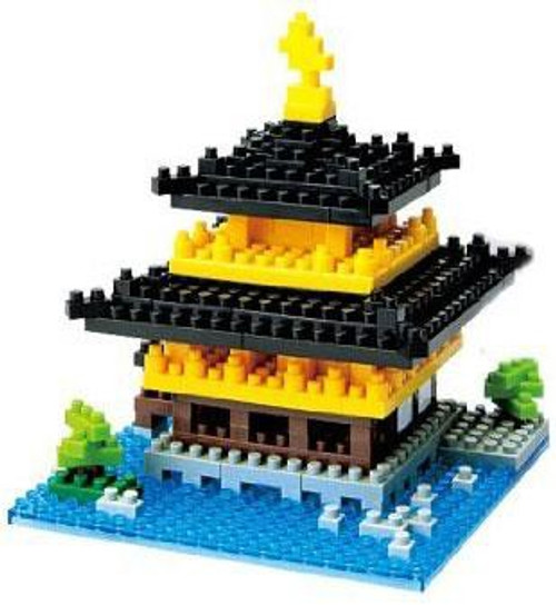 Nanoblock Micro-Sized Building Block Kinkaku-ji Figure Set