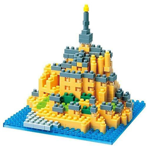 Nanoblock Micro-Sized Building Block Mont Saint-Michel Figure Set