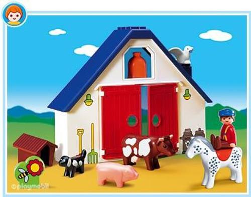 Playmobil 1.2.3 Animal Farm Set #6740