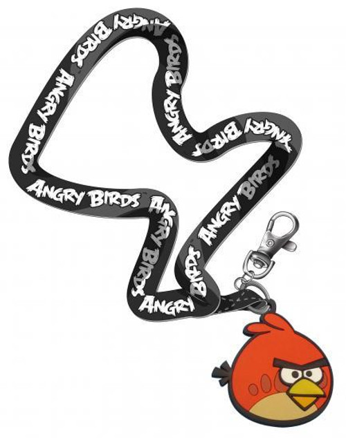 Angry Birds Red Bird Lanyard Keychain