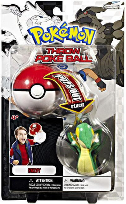 Pokemon Black & White B&W Series 1 Snivy Throw Poke Ball Plush