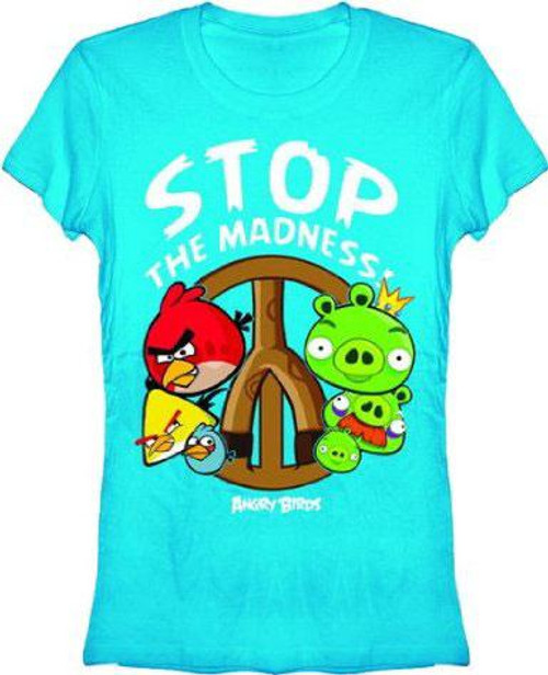 Angry Birds Stop the Madness T-Shirt [Women's]