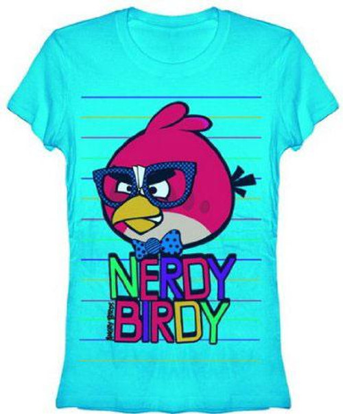 Angry Birds Nerdy Birdy T-Shirt [Women's Large]