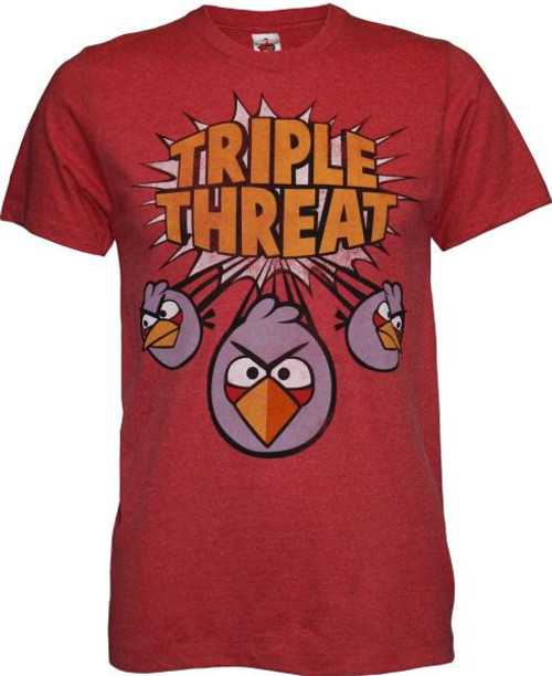 Angry Birds Triple Threat T-Shirt [Adult Small]