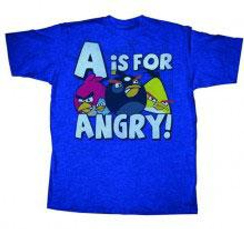 Angry Birds A is For Angry T-Shirt [Adult Small]