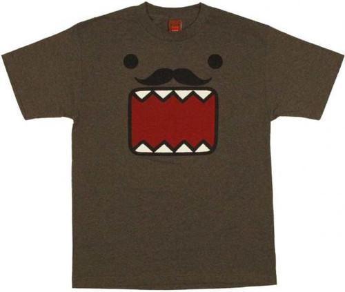 Domo Face Stache T-Shirt [Adult Large]