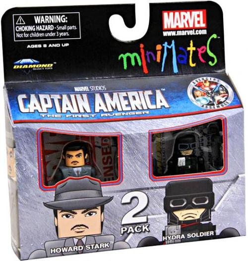 Captain America The First Avenger Minimates Series 40 Howard Stark & Hydra Soldier Minifigure 2-Pack