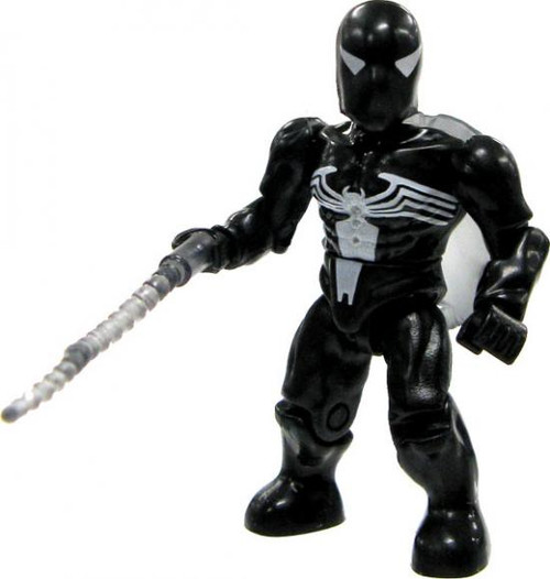 Mega Bloks Marvel Series 1 Black Costume Spider-Man Rare Minifigure [Loose]