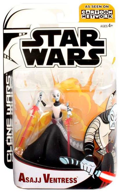 Star Wars The Clone Wars Clone Wars Cartoon Network Asajj Ventress Action Figure