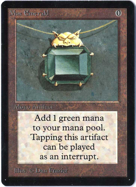 MtG Beta Rare Mox Emerald [Near Mint A]