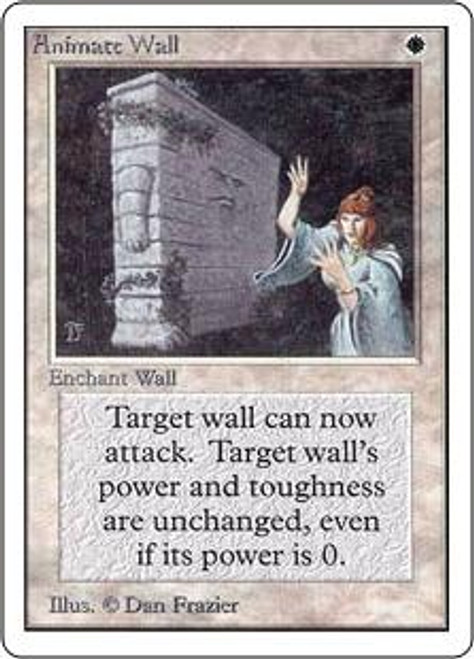MtG Unlimited Rare Animate Wall